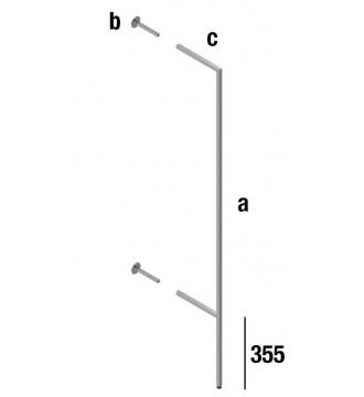 Bagudvendt vægsøjle 25x25 - QUATRO LINE inventarsystem - butiksinventar - www.boxel.dk