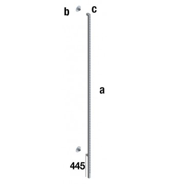 Vægsøjle 25x25 - QUATRO LINE inventarsystem - butiksinventar - www.boxel.dk