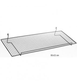 Metal trådhylde til gitter - 40 x 20 cm