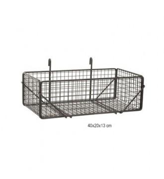 Metal trådkurv til gitter - 80 x 26 x 13 cm
