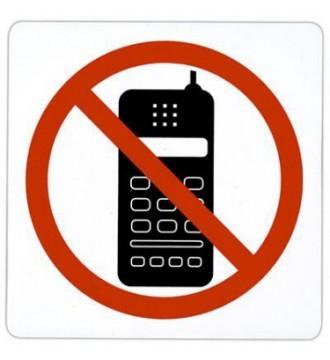Pictogram Mobiltelefon forbudt, skilte - www.boxel.dk