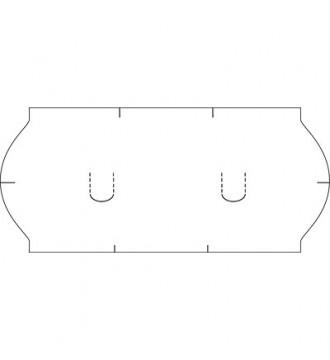 Etiket til 1 linjet mærkepistol - hvid