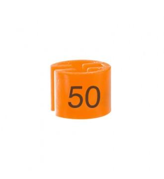 Bøjlemarkering. Minibrik Str. 50, 100 stk. ORANGE