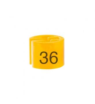 Bøjlemarkering. Minibrik Str. 36, 100 stk. GUL