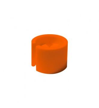 Bøjlemarkering. Mini brikker u/tryk, 100 stk. ORANGE