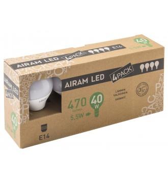 Airam LED Kerte 5,5W E14 470lm - 4-pak