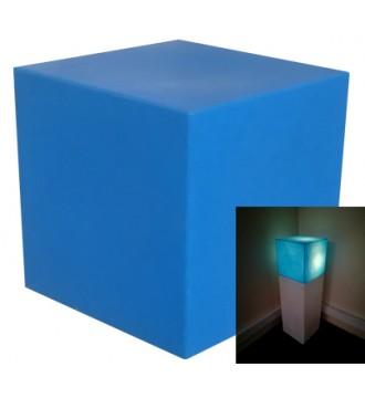 Lys podie med pære - blå