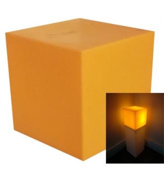 Lyskasse med pære - orange