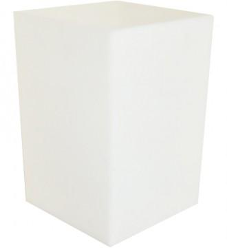 Høj lyskasse uden sokkel - hvid
