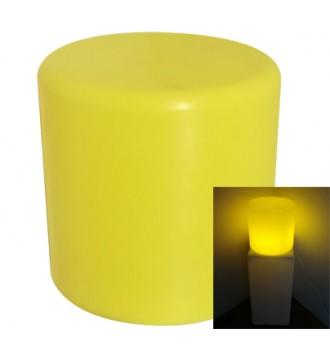 Rund lys podie med pære - gul