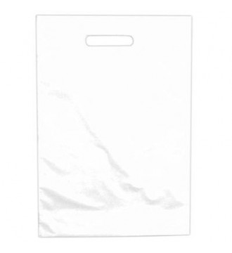 Hvid plastikpose 48x5/5x60 cm - emballage