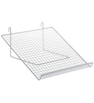 Metal trådhylde 30x14 cm til gitter