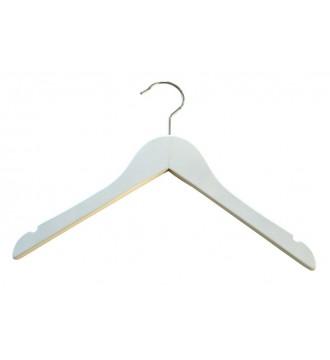 Juniorbøjle, 32 cm, blank hvid. 1 STK.