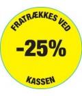 Rabatmærker i %