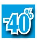 Rabatserie 40%