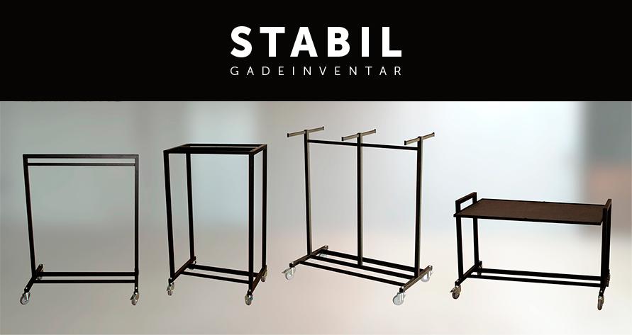 Gade inventar fra boxel.dk, stabil serien består af gadestativer, gadeborde og skilteholdere.