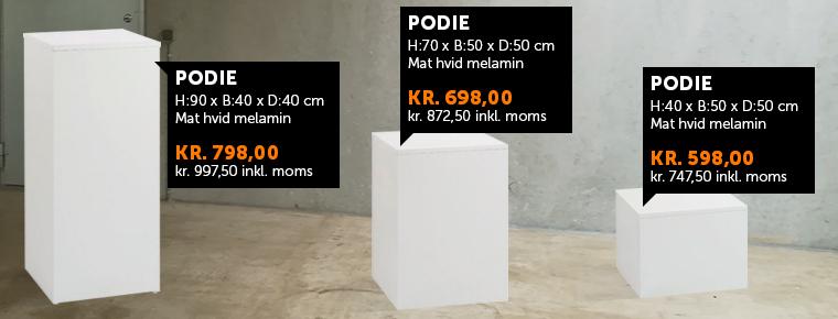tre forkellige podier fra boxel.dk