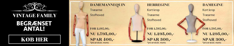 smarte vintage mannequiner til en god pris