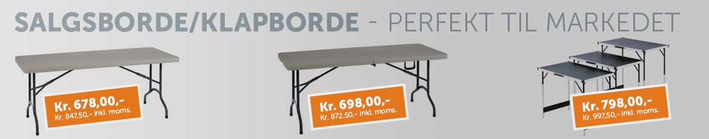 Udvalg af salgsborde fra Boxel.dk